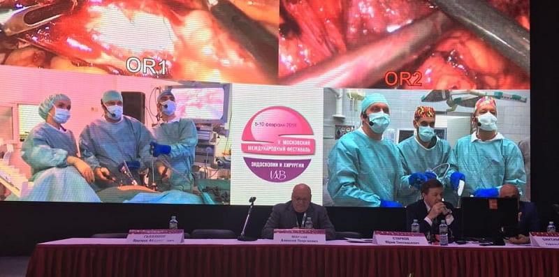 Прямая видеотрансляция из операционных в ходе форума