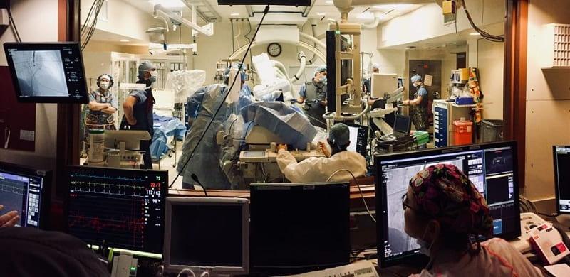 Операция по установке окклюдера в ушко левого предсердия